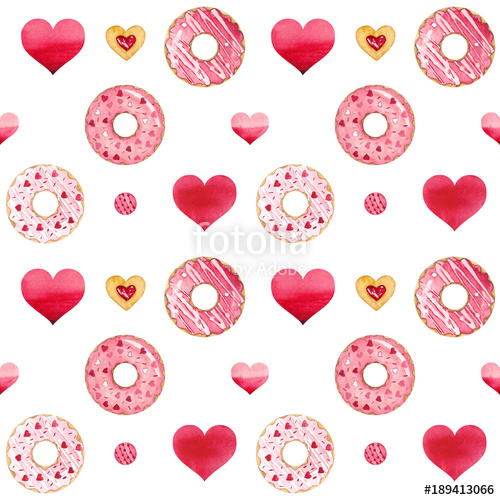 Valentines day donut clipart clip free download Valentines Day with donuts ,hearts and cookies\