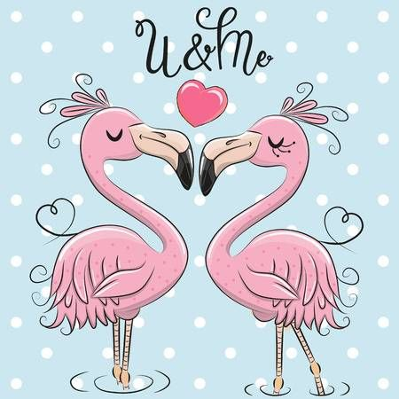 Valentines day flamingo clipart banner black and white library Stock Vector | Crafts | Flamingo, Pretty backgrounds ... banner black and white library
