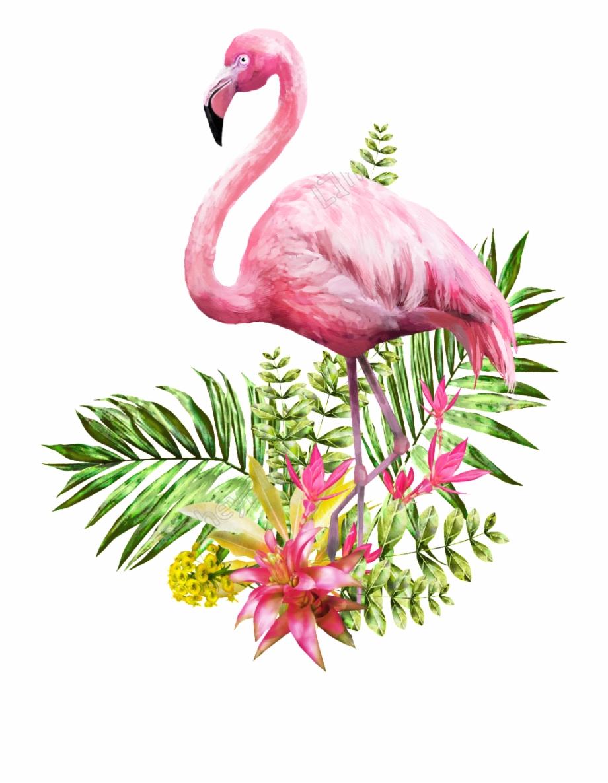 Valentines day flamingo clipart clip art black and white stock Flamingo Transparent White Background - Flamingo Valentines ... clip art black and white stock