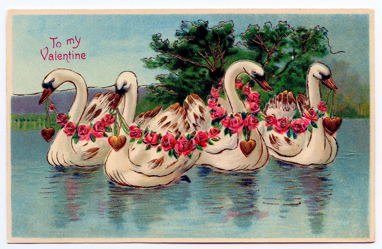 Valentines day flamingo clipart svg royalty free stock Free Valentine\'s Day Clip Art - Lady, Swans and Ring - The ... svg royalty free stock