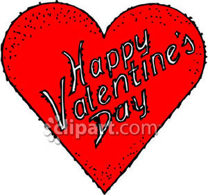 Valentine-s day free clipart pictures png black and white stock A Heart That Says Happy Valentine\'s Day Royalty Free Clipart ... png black and white stock