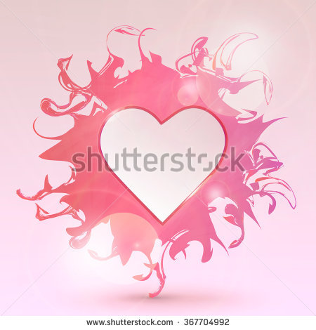 Valentines day glossy marble hearts clipart