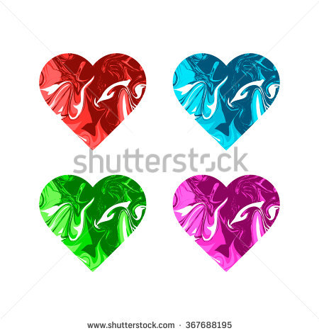 Valentines day glossy marble hearts clipart image black and white stock Love Chemistry Illustration Set Hearts Test Stock Vector 361507604 ... image black and white stock