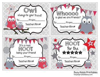 Valentines day gram clipart clipart free download Owl Candy VALENTINE\'S DAY Printable - Fundraiser - Game ... clipart free download
