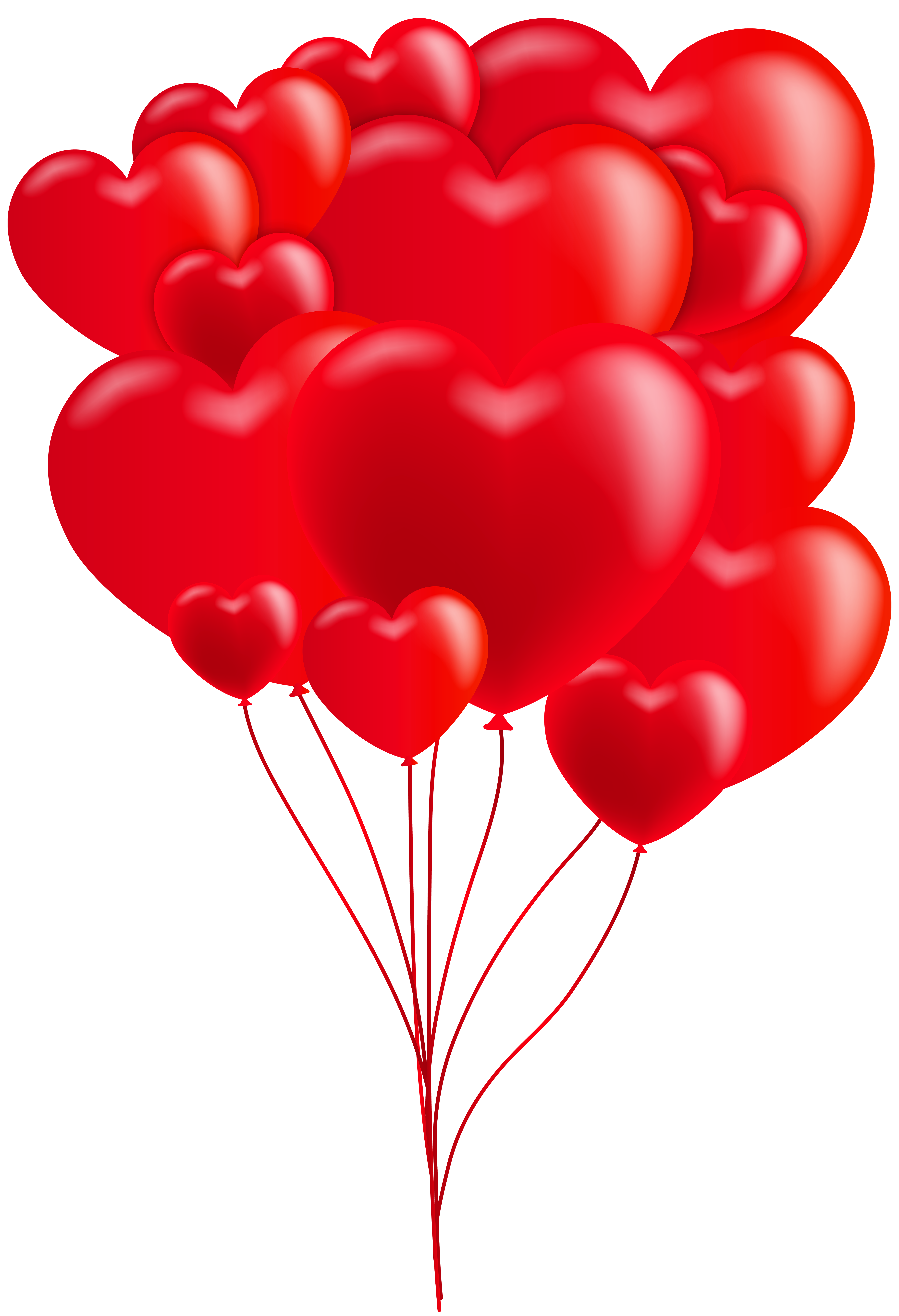 Valentine's day heart clipart png freeuse stock Valentine's Day Heart Balloons Red Clip Art Image | Gallery ... png freeuse stock