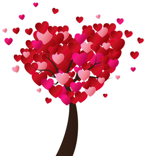 Valentines day hearts clip art vector free download Valentine's Day Heart Tree PNG Clip-Art Image | валентинки ... vector free download