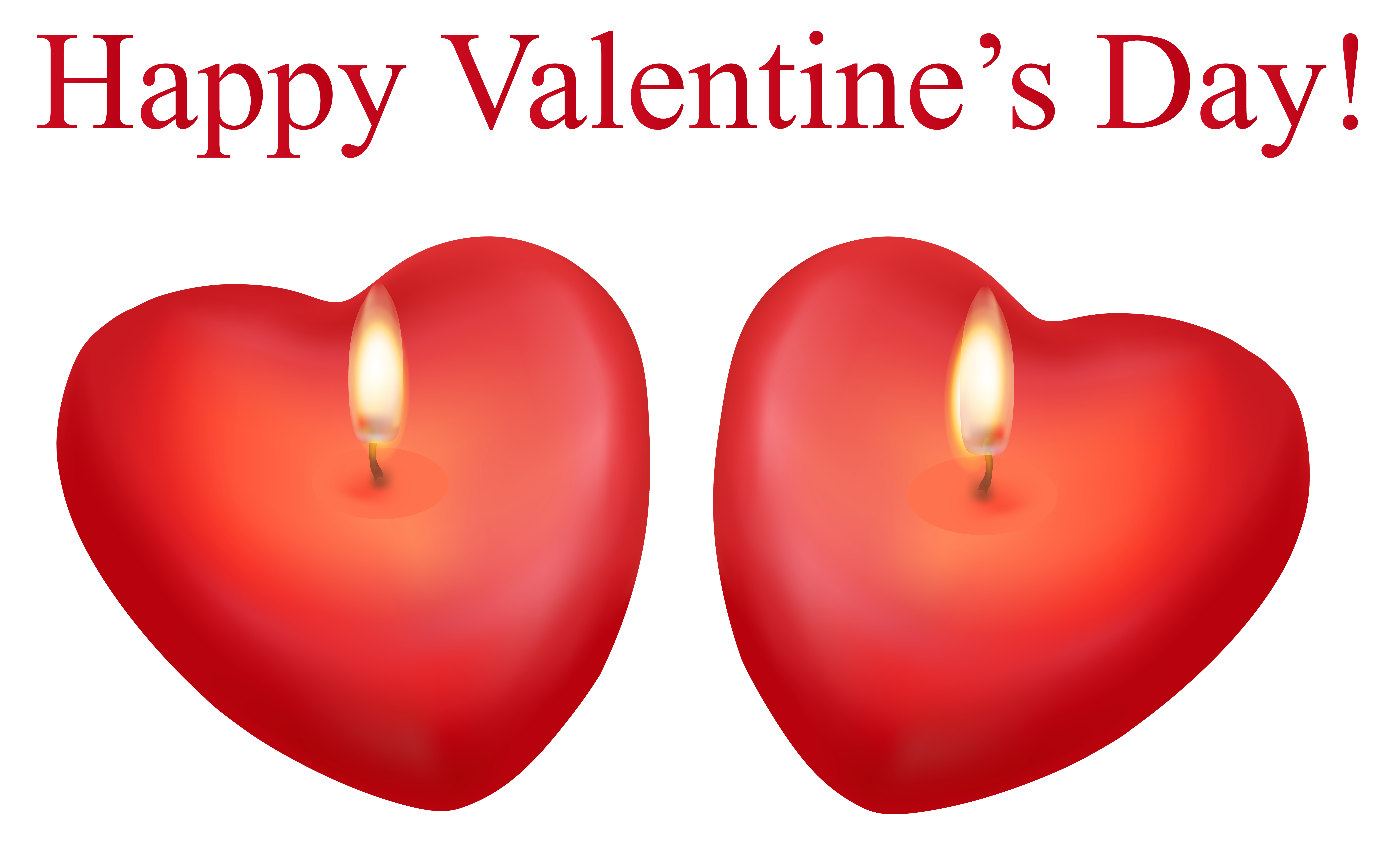 Valentines day hearts clipart transparent clipart library download Happy Valentine's Day Heart Candles Transparent PNG Clip Art Image clipart library download