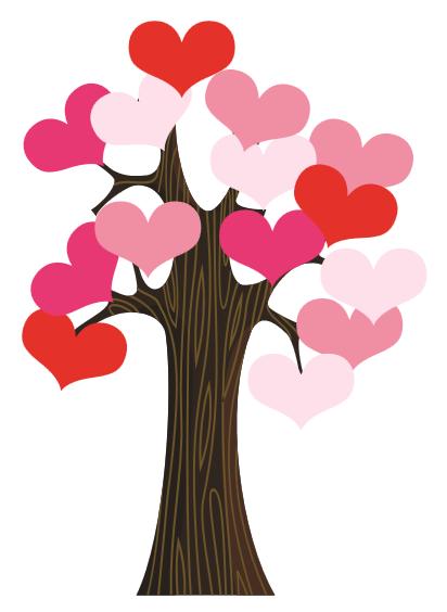 Valentines day office clipart svg transparent Classroom Door Valentine Heart Tree | Valentine\'s Day ... svg transparent