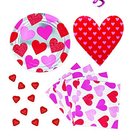 Valentines day office clipart graphic freeuse stock Amazon.com: Valentines Day Party Supplies Including Pretty ... graphic freeuse stock
