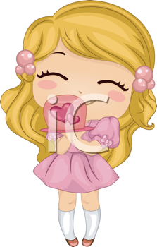 Valentines day party free clipart graphic transparent iCLIPART - Royalty Free Clip Art Image of a Girl With a ... graphic transparent