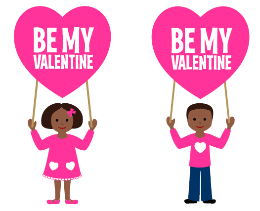 Valentines day party free clipart image stock FREE African American Valentine\'s Day Printables from Love ... image stock
