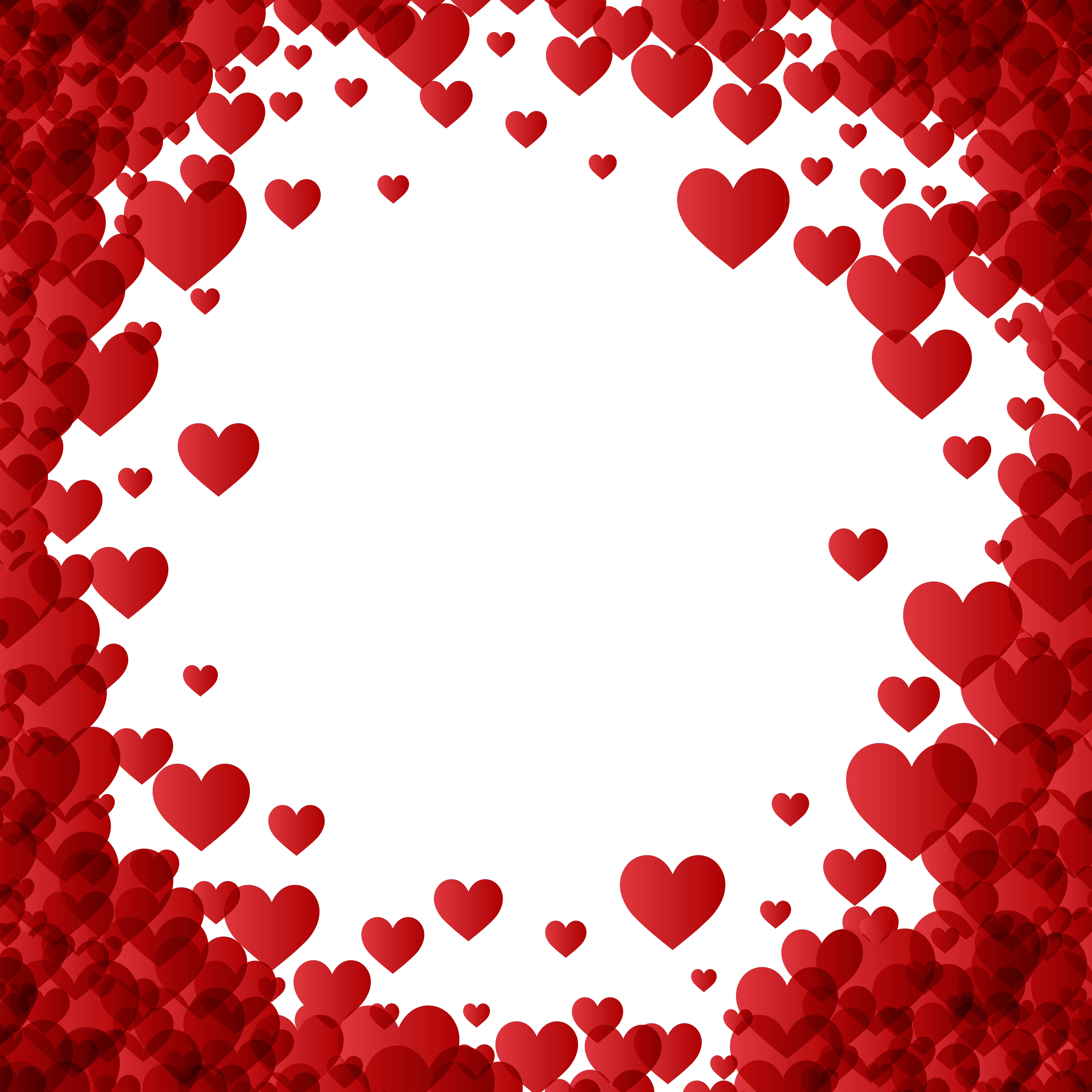 Valentines day photo frame clipart png transparent library Valentine\'s Day Heart Border Frame Transparent Image ... png transparent library