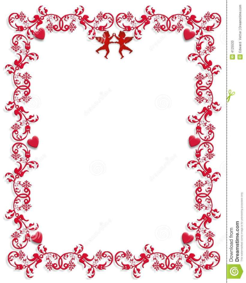 Valentines day photo frame clipart png black and white download Valentines Day Frame Clip Art | Nakanak.org png black and white download