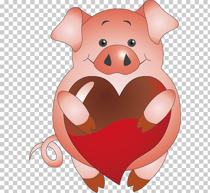 Valentines day pig clipart clip art transparent stock Domestic pig Valentines Day Paper Scrapbooking , Holding ... clip art transparent stock