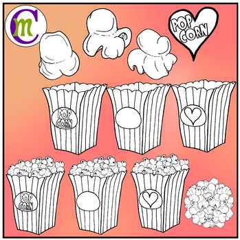 Valentines day popcorn clipart clipart free download Popcorn Clip Art   Valentine\'s Day Popcorn Clipart clipart free download