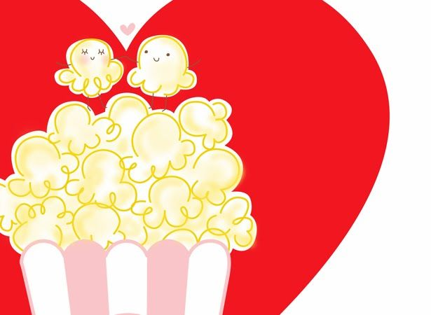 Valentines day popcorn clipart jpg royalty free download Free popcorn valentine printable. #Valentine #free ... jpg royalty free download