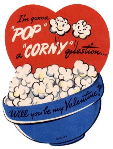 Valentines day popcorn clipart png stock Free Vintage Kids Valentine Cards - Vintage Holiday Crafts png stock