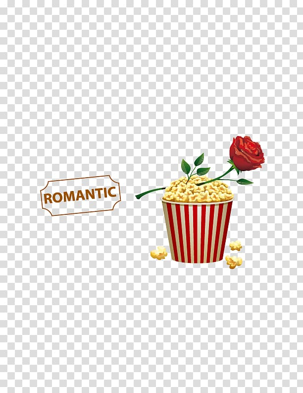 Valentines day popcorn clipart image royalty free Popcorn Film Cinema, Romantic Valentine\\\'s day transparent ... image royalty free