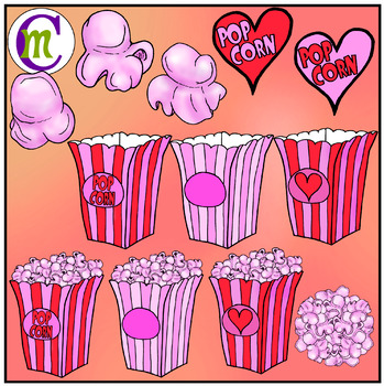 Valentines day popcorn clipart clipart black and white download Popcorn Clip Art | Valentine\'s Day Popcorn Clipart clipart black and white download