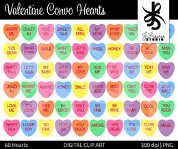 Valentines day sayings clipart jpg black and white download Download conversation hearts sayings list clipart ... jpg black and white download