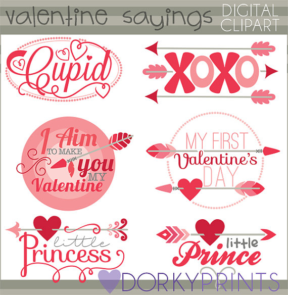 Valentines day sayings clipart png free library Valentine Clipart Arrow Sayings -Personal and Limited ... png free library