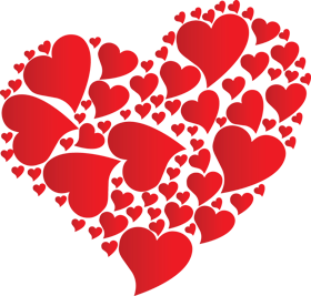 Valentines fan transparent clipart image library stock Pin by ☆ Agatka ☆ on cliparts 1... | Heart pictures, Heart ... image library stock