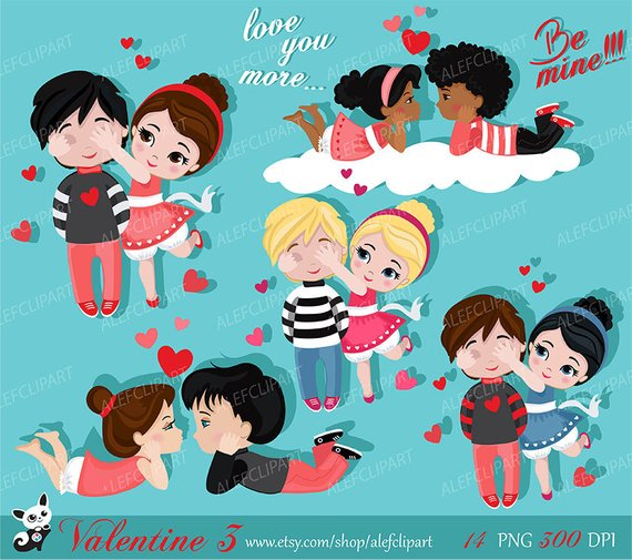 Valentines for kids clipart clip art transparent download Valentine kids clipart 3 , My Cute Valentine, digital clip ... clip art transparent download