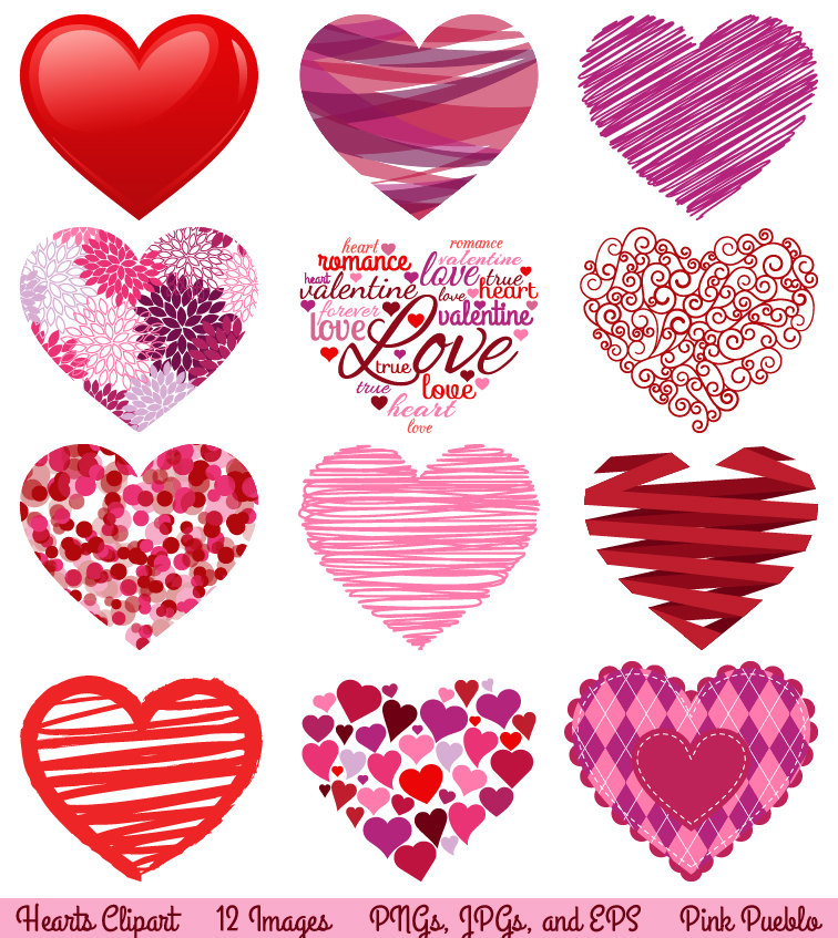 Valentines hearts clip art png download Lace Valentine Hearts Clipart - Clipart Kid png download