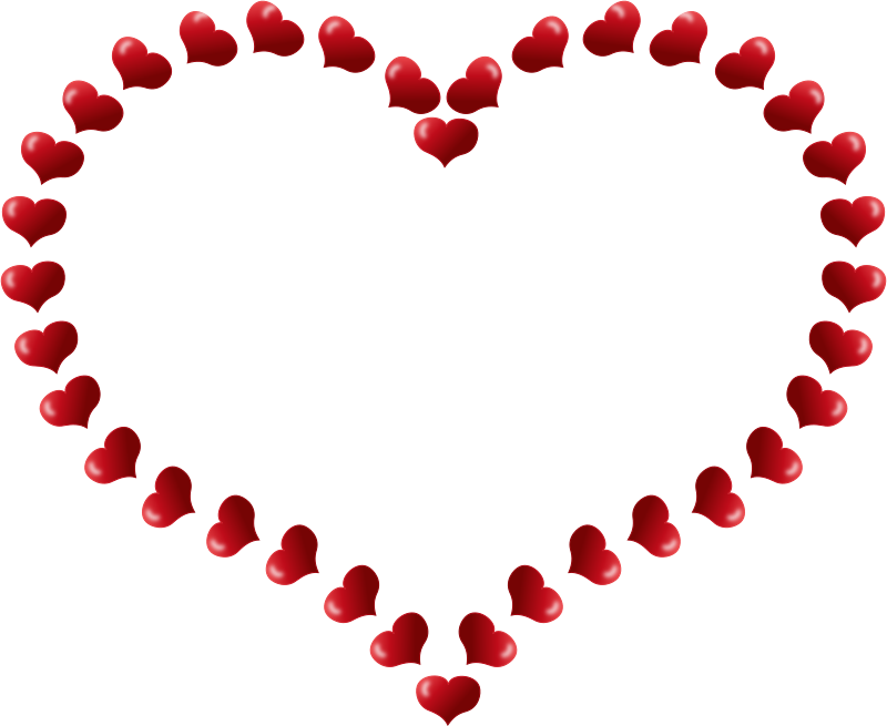 Valentines hearts clipart clipart Clipart - Red Heart Shaped Border with Little Hearts clipart