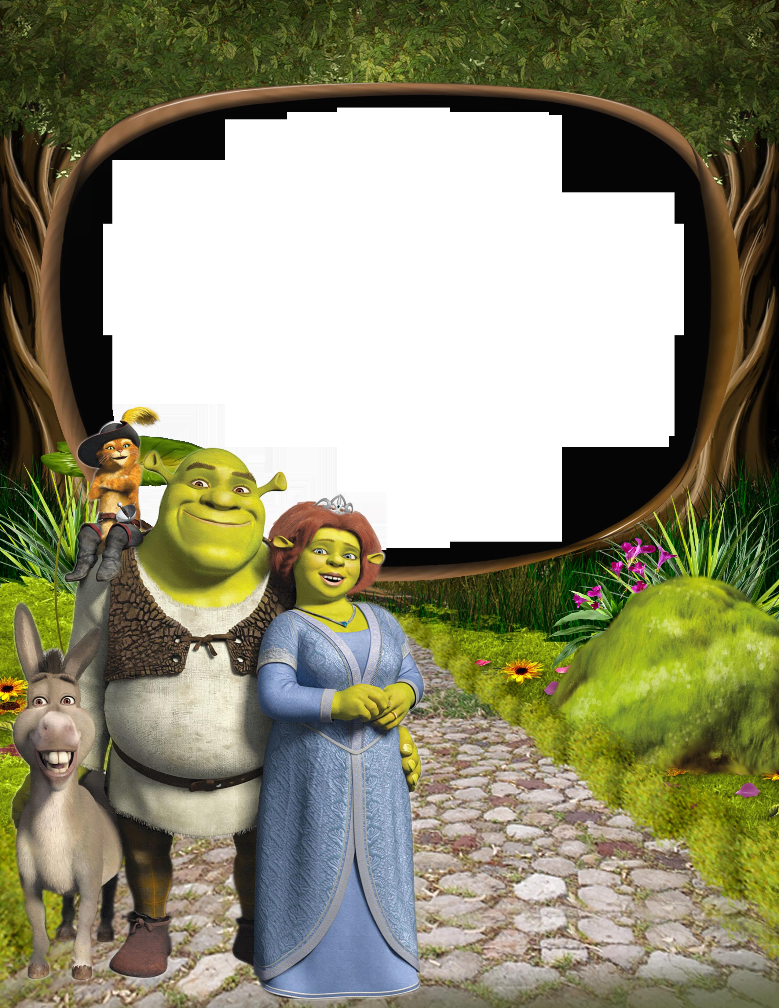 Valentines shrek clipart graphic freeuse library Shrek and Princess Fiona PNG Kids Frame | Gallery ... graphic freeuse library