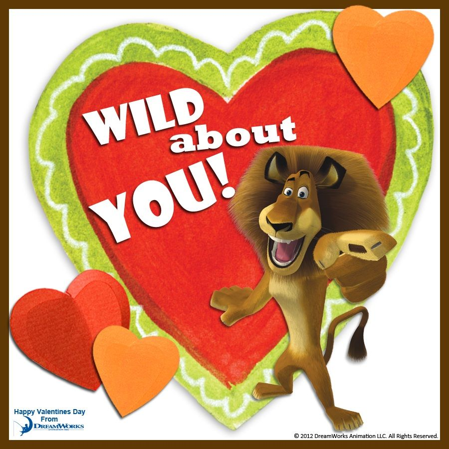 Valentines shrek clipart jpg free download I\'m Wild About You! - Madagascar, DreamWorks Animation ... jpg free download