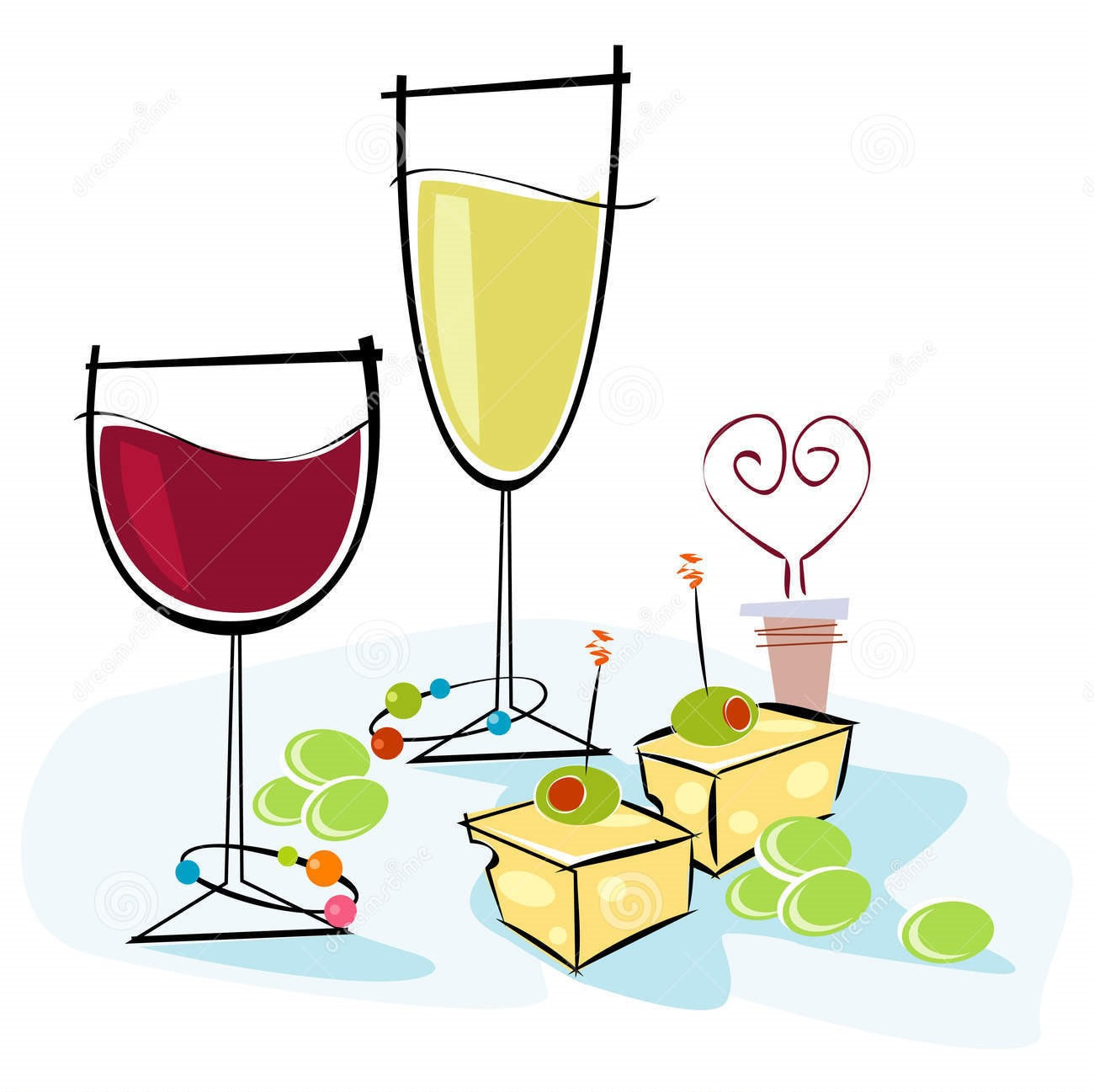 Valentines wine clipart free jpg transparent library Valentine Clipart Wine And Cheese - Free Clipart jpg transparent library