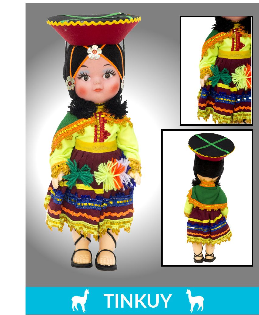 Valicha peru clipart black and white library A type of Peruvian decor are the dolls, that is a pretty ... black and white library