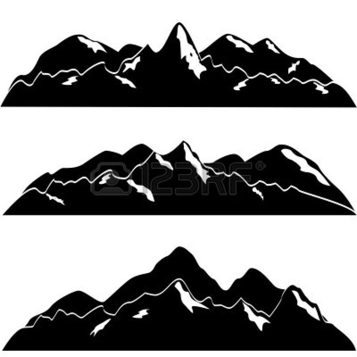 Valley between mountains black and white clipart vector library stock Free Valley Clipart Black And White, Download Free Clip Art ... vector library stock