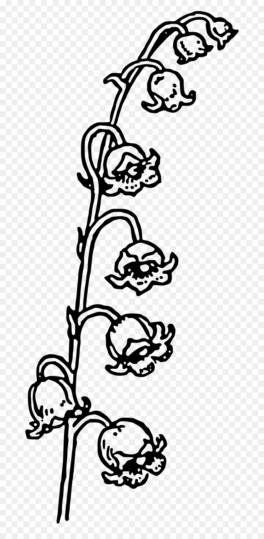Valley of the king clipart black and white clipart freeuse download Black And White Flower png download - 800*1825 - Free ... clipart freeuse download