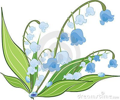 Valley with flowers clipart graphic freeuse download Lily Valley Flower Design Stock Illustrations – 299 Lily ... graphic freeuse download