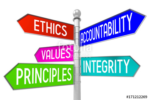 Values and ethics clipart svg freeuse 3D signpost - business ethics concept - ethics ... svg freeuse