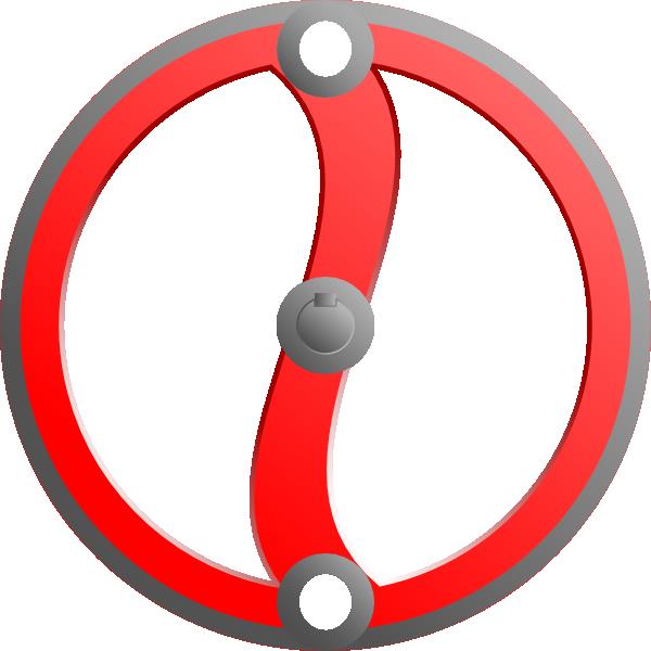Valve clipart svg black and white Steam Valve Wheel Clip Art at Clker.com - vector clip art ... svg black and white