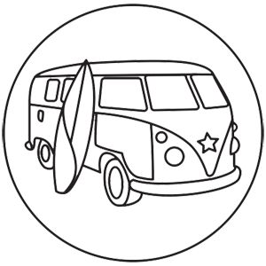 Van and surfboard clipart black and white png stock Surfboard Clipart Black And White | Free download best ... png stock