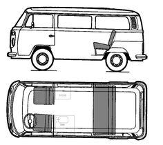 Van clipart birds eye view picture library library Vw Bus Line Drawing | Free download best Vw Bus Line Drawing ... picture library library