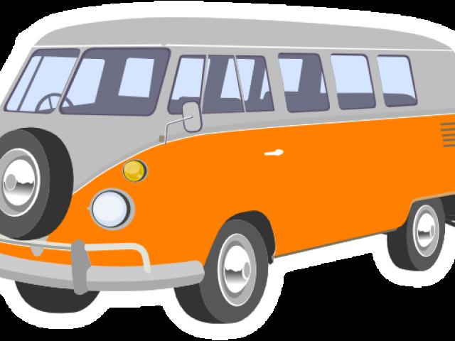 Van clipart transparent background clip black and white stock Volkswagen Clipart Hippy Van - Van Cartoon Transparent ... clip black and white stock