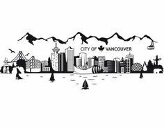 Vancouver state skyline clipart image freeuse library Vancouver skyline | House | Vancouver skyline, Skyline ... image freeuse library