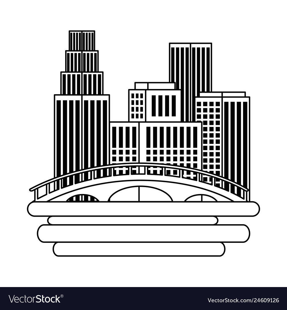 Vancouver state skyline clipart clipart free Vancouver city with burrard bridge vector image clipart free