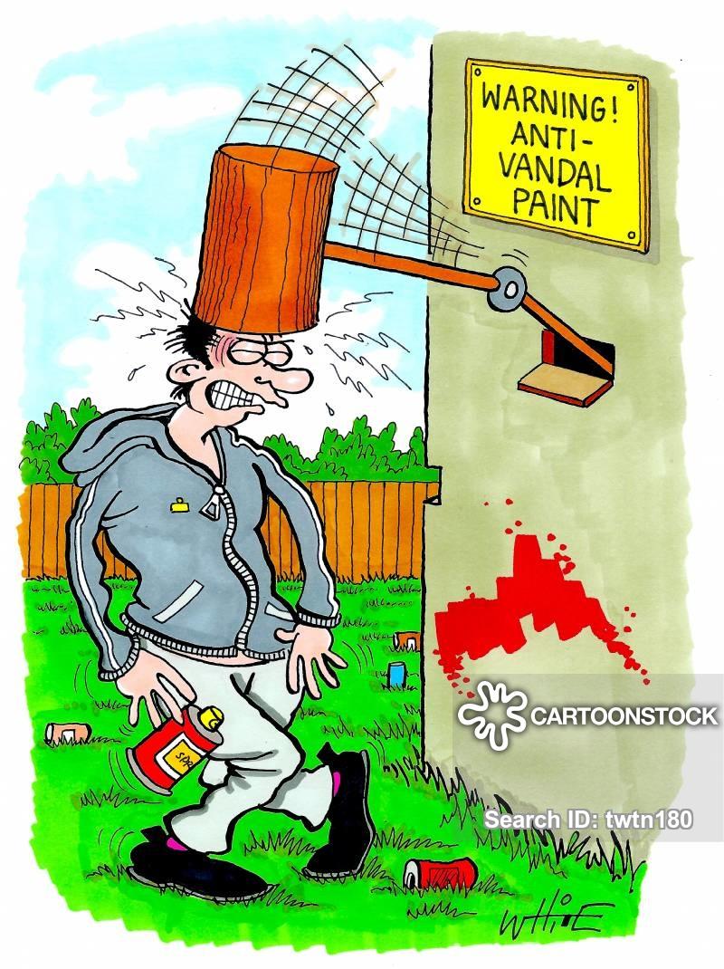 Vandalism cartoon clipart
