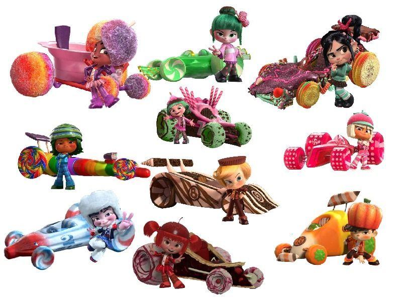 Vanellope von schweetz car clipart picture royalty free stock Snowanna Rainbeau, Minty Sakura, Vanellope von Schweetz ... picture royalty free stock