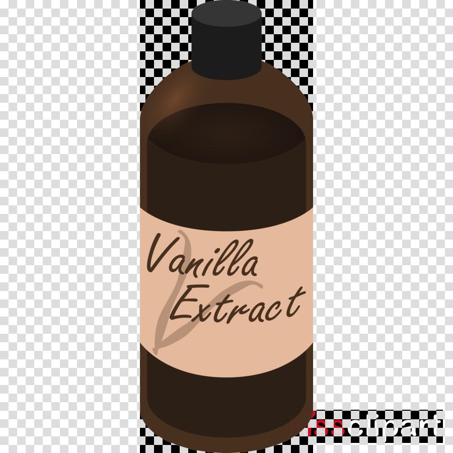 Vanilla bottle clipart vector Download Vanilla extract Clip art Food vector