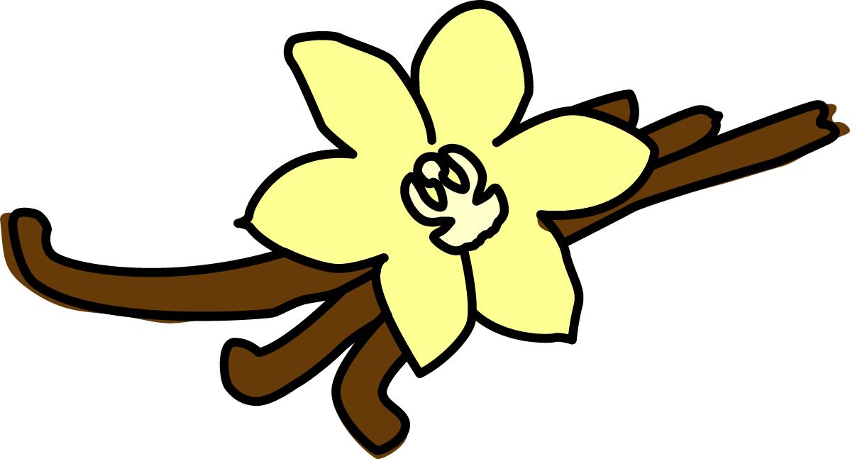 Vanilla flower clipart clip art royalty free download Madagascar Vanilla ice cream - Scaramouche ice cream maker clip art royalty free download