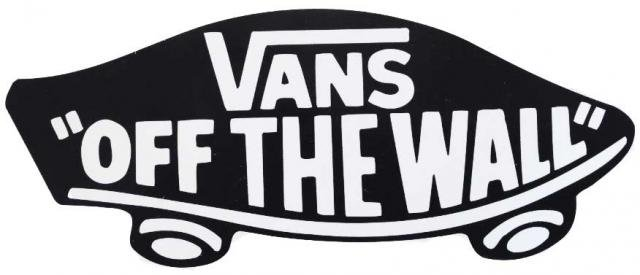Vans off the wall logo clipart clip art royalty free Vans Logo Off The Wall Sticker - Black clip art royalty free
