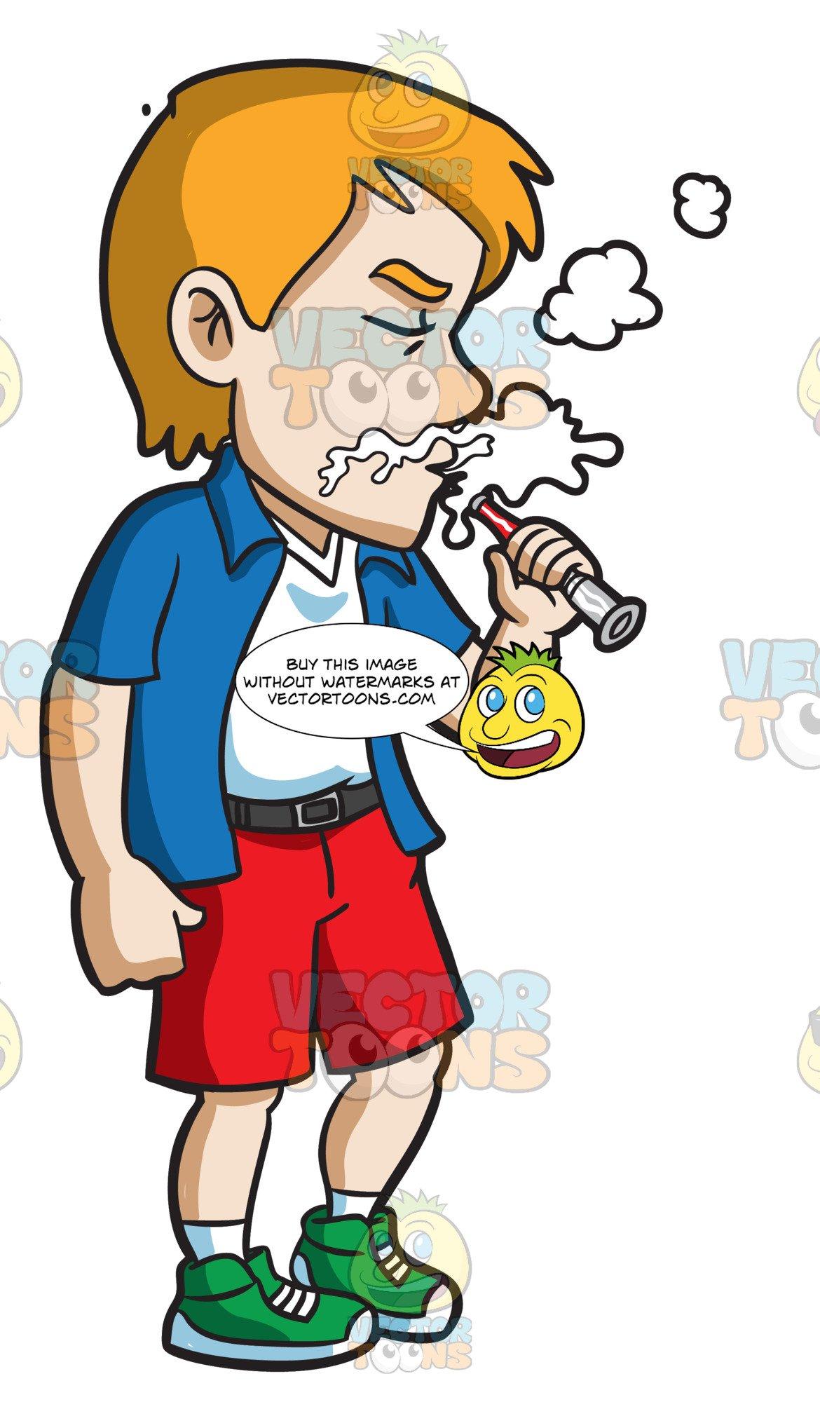 Vape and drinking clipart clip art free A Guy Using A Vape Stick clip art free