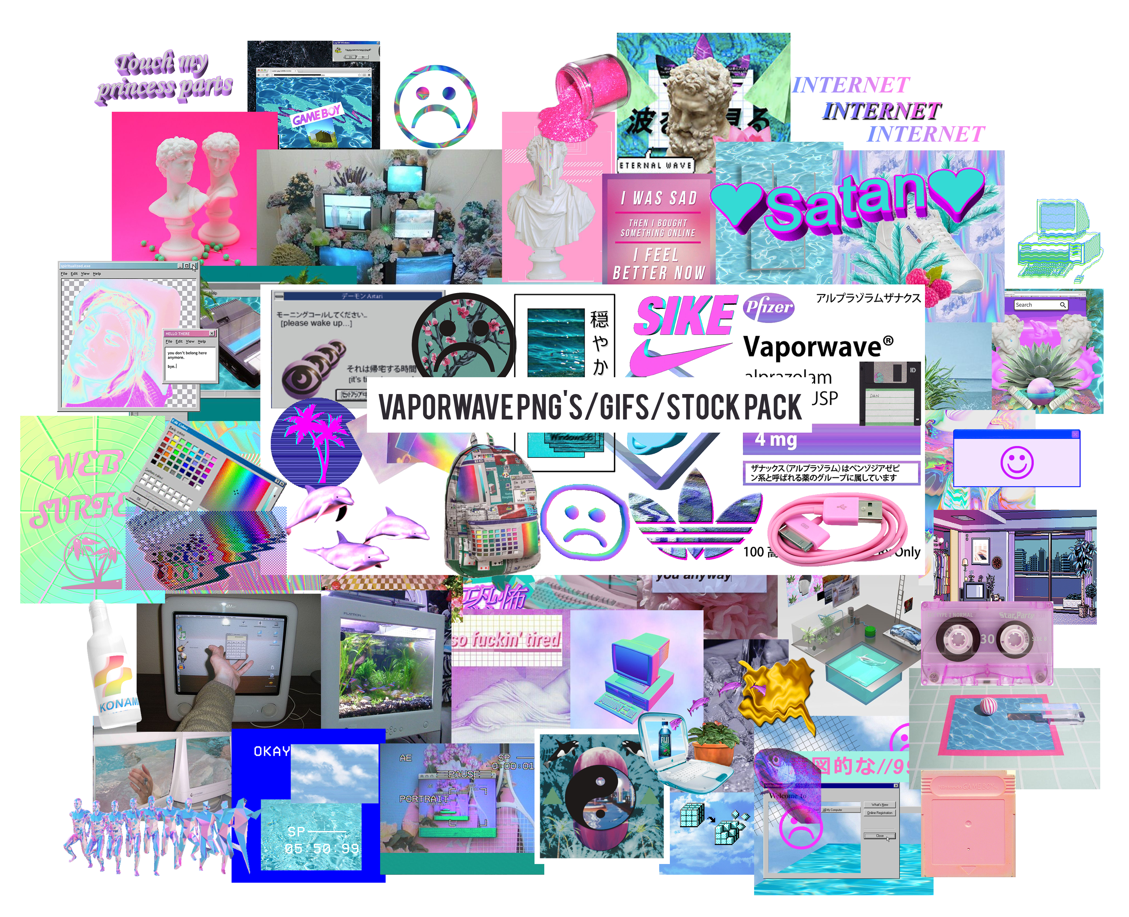 Download clipart pack deviantart clipart library library 21+ Free Aesthetic PNG packs - Hipsthetic clipart library library